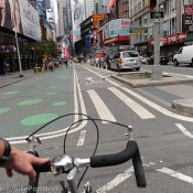 A ride down Broadway and taking in Times Square