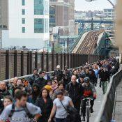 Biking and walking rule in a city sans subway