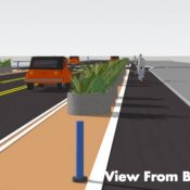 PBOT begins re-design of NE Multnomah; now with more protected bikeways