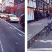 Buffered bike lanes on Stark and Oak set to go green