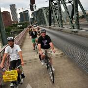 In three months, over a half-million bike trips on the Hawthorne Bridge
