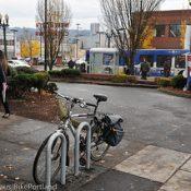 Bike racks installed at 12 local Plaid Pantry stores