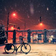 A late-night rendezvous with snow-filled streets