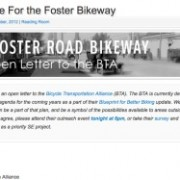 Grassroots campaign blossoms for major bikeway on SE Foster