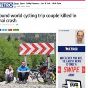 Filmed by Bike to pay tribute to couple killed in Thailand