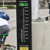 Hawthorne Bridge bike counter has logged over 1,000,000 trips since August