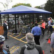 Daimler Trucks North America opens new bike parking facility on Swan Island