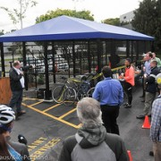 Daimler Trucks North America opens new bike parking facility on Swan Island