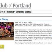 City Club of Portland announces 'Civic Salon' on The Future of Biking