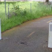 WSDOT adds bollards to keep drivers off I-205 bike path
