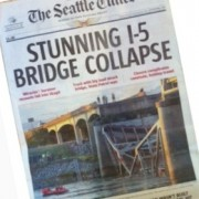I-5 bridge (not that one) collapses, spin begins