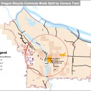 GIF: Growth of bicycling and bikeways in Portland since 1990
