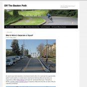 Noted bicycle journalist Jan Heine explains the argument against separated bikeways