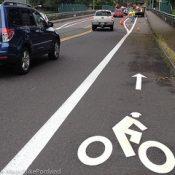 City adds new buffered bike lanes to N Skidmore Street