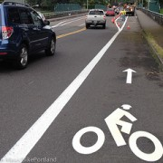 City adds new buffered bike lanes to N Skidmore Street