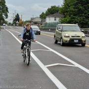 A few more thoughts and photos on new Skidmore Street bike lanes