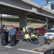 Driver in Interstate Avenue crash cited on two violations