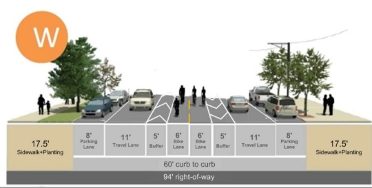 New Idea For Foster Road A Center Median Bike Lane