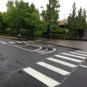 Eyes on the Street: New striping, medians at N. Vancouver and Morris  – UPDATED