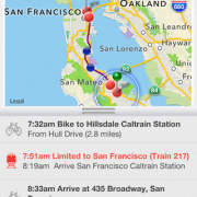Forthcoming mobile app helps plan 'bike + transit' trips