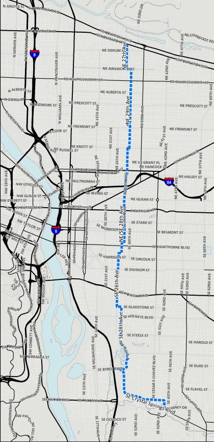 20s bikeway map