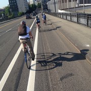 First Look: Wider bike lanes on NW Broadway ramp