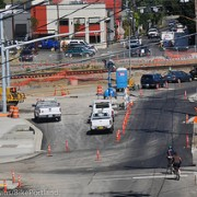 Police ticketing riders for not following signs near SE construction zone