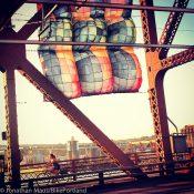 Photo of the Week: Birthday blankets on the Broadway Bridge