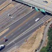 Man on a bike struck while trying to cross I-205 – UPDATED