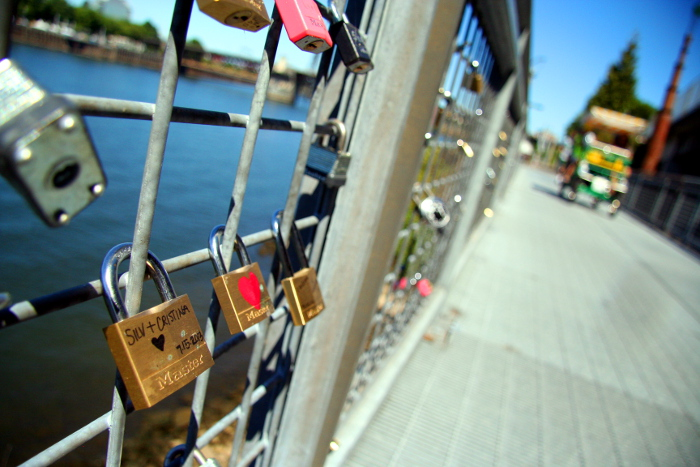 padlocks on the Eastbank Esplanade
