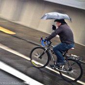 Portlanders pedal through the storm