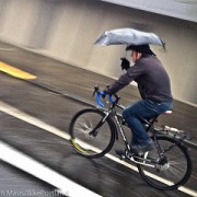 Portlanders pedal through the storm