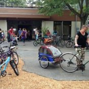 Portlanders bike back to school (photos)