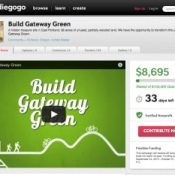 $8,000 and counting: Gateway Green off to quick crowdfunding start