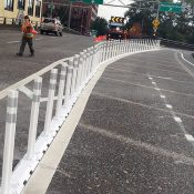 County adds plastic 'candlestick' bollards to Hawthorne viaduct