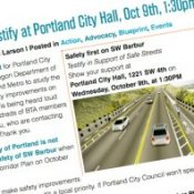 Council agenda doesn't include Barbur; BTA will rally – UPDATED