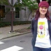Wear Oregon's crosswalk law on your chest