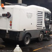 Portland buys a new, bike path-sized street sweeper