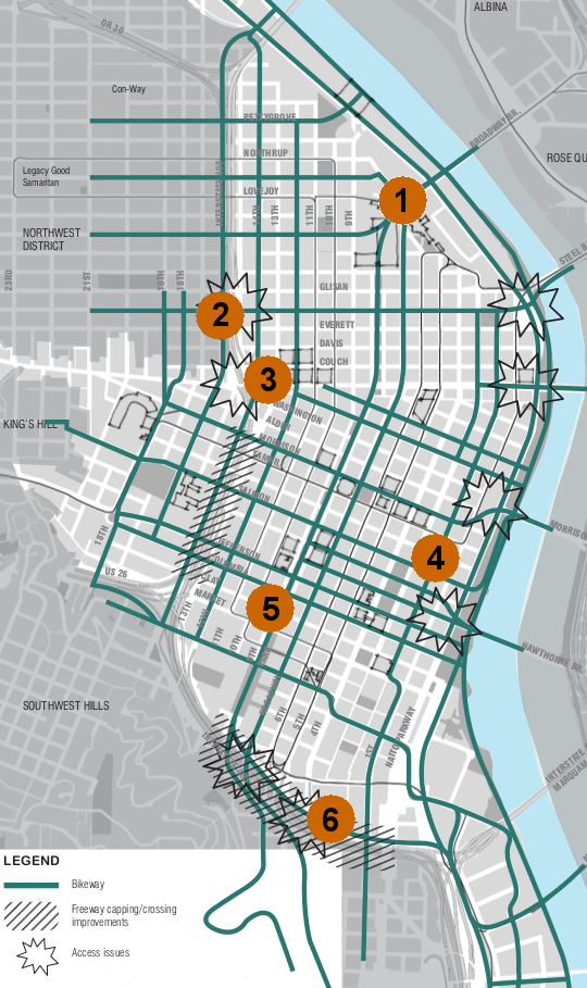 on downtown portland map