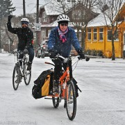 Snowy cycling in Portland! (photos)