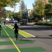 Student project could become two-way buffered bike lane in Eugene