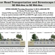 Open house set for SE Foster Road project