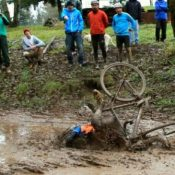 Wet and wild wipeouts at 'Wintercross' race (Photos)