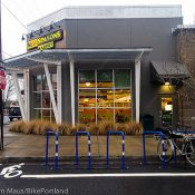 Changes to bike parking at New Seasons Market in Arbor Lodge