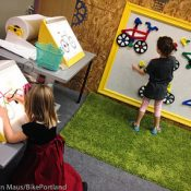 Impressions and photos of 'Cycle City' exhibit at Portland Children's Museum