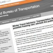 Comparing language in winter traffic advisories from PBOT and ODOT