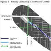 PBOT opts for zig-zag to connect new SE Foster bike lanes to 52nd