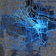 A closer look at Strava's 'heat map' for the Portland region