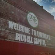New 4-story mural downtown proclaims 'Welcome to America's Bicycle Capital'