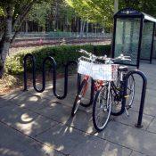 Nike bike share clogs bike parking at Beaverton Creek station
